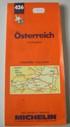 grandi carte stradali MICHELIN N. 426 - AUSTRIA