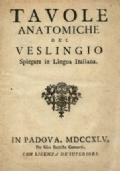 TAVOLE ANATOMICHE DEL VESLINGIO spiegate in lingua italiana