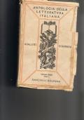 ANTOLOGIA DELLA LETTERATURA ITALIANA volume 3° tomo I dal neoclassicismo ai nostri giorni