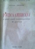 POETICA AMERICANA e altri studi contemporanei di poetica (introvabile)