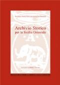 Archivio Storico per la Sicilia Orientale Anno CIII 2007