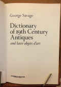 Dictionary of19th Century Antiques and later objects d' art