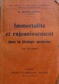 Immortalite et rajeunissement dans la biologie moderne