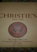CHRISTIE'S  The Forbes Collection of American Historical Documents Part Two  Wednesday 9 October 2002