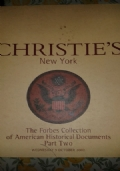 CHRISTIE'S 	 The Forbes Collection of American Historical Documents Part One 	 wednesday 27 Marc 2002