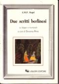 Due scritti berlinesi su Solger e Humboldt
