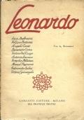 LEONARDO. Nove ''Letture leonardesche'' tenute a Firenze nel 1906, aggiuntovi il saggio di Luca Beltrami ''L'aeroplano di Leonardo''  [ Seconda edizione. Ristampa Garzanti 1939 ].