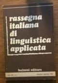 RASSEGNA ITALIANA DI LINGUISTICA APPLICATA