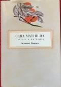 CARA MATHILDA  LETTERE A UN AMICA