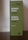 DIZIONARIO TECNICO ITALIANO INGLESE ENGLISH ITALIAN