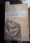 Pagine Critiche di Letteratura Greca