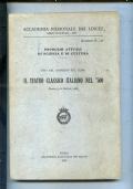 IL TEATRO CLASSICO ITALIANO NEL 500