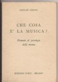 CHE COSA E LA MUSICA? ELEMENTI DI PSICOLOGIA DELLA MUSICA