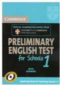 Preliminary English Test for School 1 (per certificazione PET)