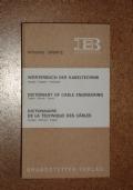 ELEKTROMASCHINEN WORTERBUCH ( DIZIONARIO APPARATI ELETTRICI )  GERMAN -ENGLISH  ENGLISH - GERMAN