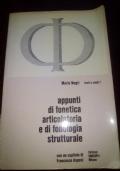 Appunti di fonetica articolatoria e di fonologia strutturale