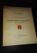 Introduzione alla storiografia specialistica in Italia