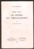 Saint Paul Les Epitres aux Thessaloniciens
