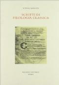 SCRITTI DI FILOLOGIA CLASSICA