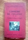 L'ESORDIO DI TOLSTOIJ 1852-1860