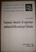 Contenuti educativi ed esperienze ambientali della scuola per l'infanzia - Atti del convegno (20 dicembre 1969)