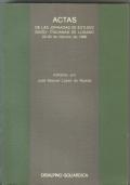 ACTAS DE LAS JORNADAS DE ESTUDIO SUIZO-ITALIANAS DE LUGANO 22-24 DE FEBRERO DE 1980