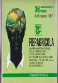 CATALOGO FIERA DI VERONA 1987 FIERAGRICOLA , AGRICOLTURA , ZOOTECNIA , MACCHINE