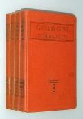 GOLDONI:COMMEDIE SCELTE - Con i giudizi dell'autore intorno alle commedie stesse (4 voll.)