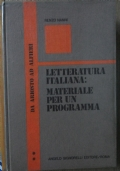 Letteratura italiana: materiale per un programma