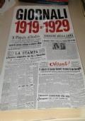 Giornali 1919 - 1929 Dal Dopoguerra Al Fascismo