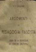 argomenti di pedagogia fascista