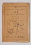 CARTA DELLE ZONE TURISTICHE D'ITALIA: BOLZANO E DINTORNI