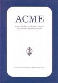 ACME. Annali della Facoltà di Lettere e Filosofia dell'Università degli Studi di Milano