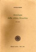 Antologia della critica filosofica. Vol.I:L'Età antica.