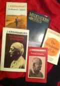 5 volumi in inglese di J. Krishnamurti