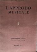 L'approdo musicale Rivista trimestrale di musica Annata completa 1958
