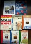 Lotto 8 libri salute benessere dimagrire forma fisica alimentazione vaccini AIDS CAD0