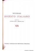 NOVISSIMO DIGESTO ITALIANO - UTET - Opera Completa - 21 Volumi + 7 Volumi Appendice