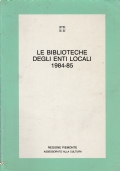 Le biblioteche degli enti locali 1984-85
