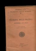 FILOSOFIA DELLA PRATICA ECONOMICA ED ETICA