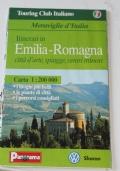 Itinerari in Emilia Romagna.  città d'arte, spiagge, centri minori. Carta 1:200.000