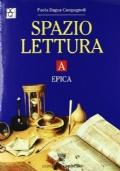 Spazio lettura volumi: A - epica, B - racconto e romanzo, C - poesia teatro e cinema, D - testi non letterari