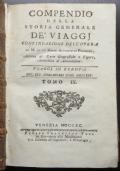 COMPENDIO DELLA STORIA GENERALE DE' VIAGGJ (1790) - TOMI IX E X (SVIZZERA, PERSIA)
