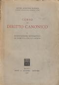 CORSO DI DIRITTO CANONICO - I