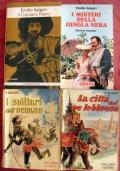 Lotto 4 libri Emilio Salgari Il corsaro nero I misteri della jungla nera La città del re lebbroso I solitari dell'Oceano CAR0