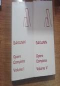 BAKUNIN  OPERE  COMPLETE  5 VOLUMI