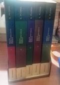 STORIA DELLA LETTERATURA ITALIANA  5 volumi, (1 -2-3-4-5)