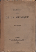 Histoire abrege de la musique