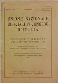 UNIONE NAZIONALE UFFICIALI IN CONGEDO D'ITALIA. FOGLIO D'ORDINI E BOLLETTINO D'INFORMAZIONI