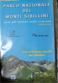 Parco nazionale dei monti Sibillini. Carta dei sentieri alla scala 1:25.000.